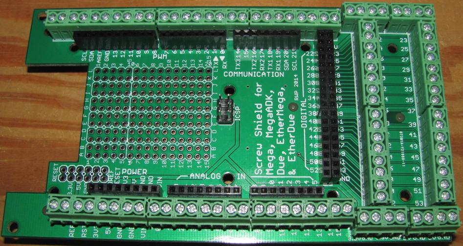 Mega due megaadk ethermega screw shield